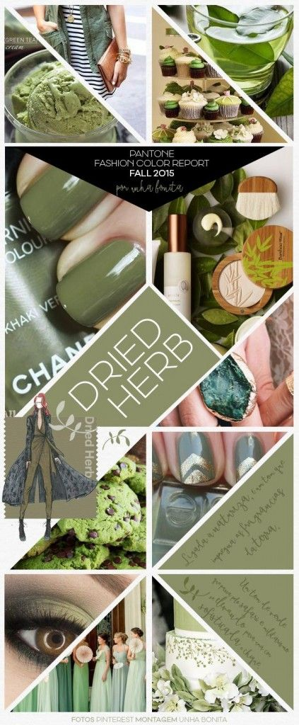 dried herb collage