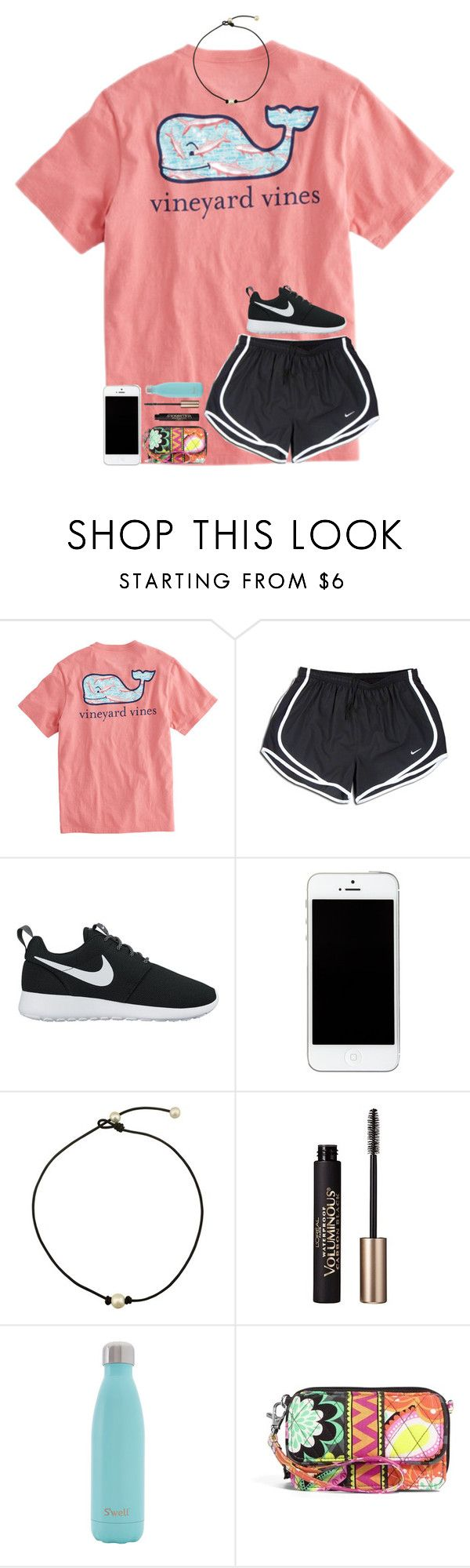 """Cheer camp tomorrow!"" by kyliegrace ❤ liked on Polyvore featuring beauty, Vineyard Vines, NIKE, L'Oréal Paris, S'well and Vera Bradley"