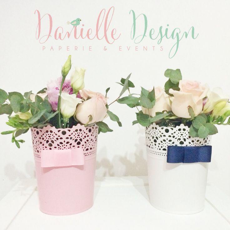 Simple flower arrangements .. For simple centerpiece .. IKEA vases