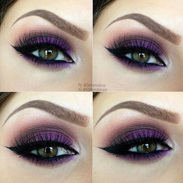 bright purple smokey eye  ~  we ❤ this! moncheribridals.com #weddingmakeup