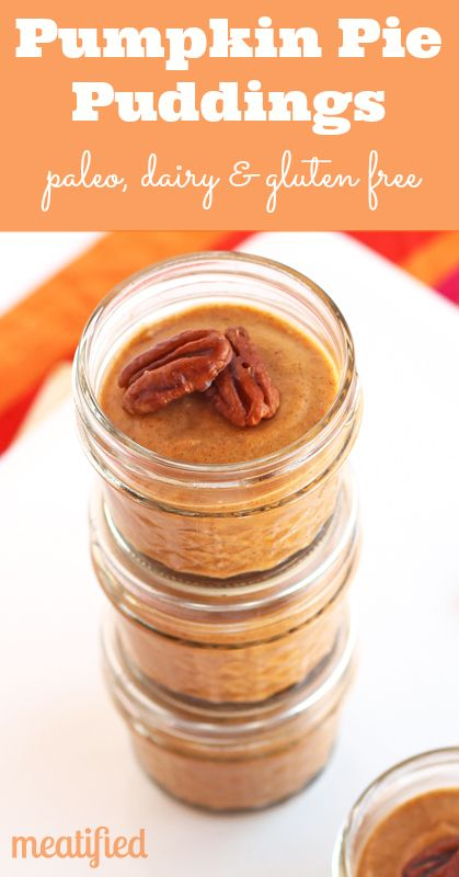 Paleo Pumpkin Pie Pudding from http://meatified.com. Always wary of any sweetener, but supposedly paleo with maple syrup.