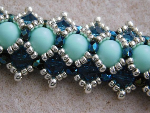 Hey, I found this really awesome Etsy listing at https://www.etsy.com/uk/listing/251135759/beaded-bracelet-tutorial-pattern