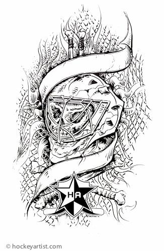 Skull Goalie mask - Protect the skull. Colour me kids.