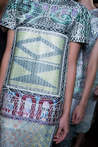 Backstage at Mary Katrantzou SS13 by Daniel Pykes