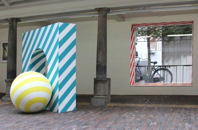 #MarijeVermeulen , it's Amore! 2014 #geometric-art #striping #installation-art