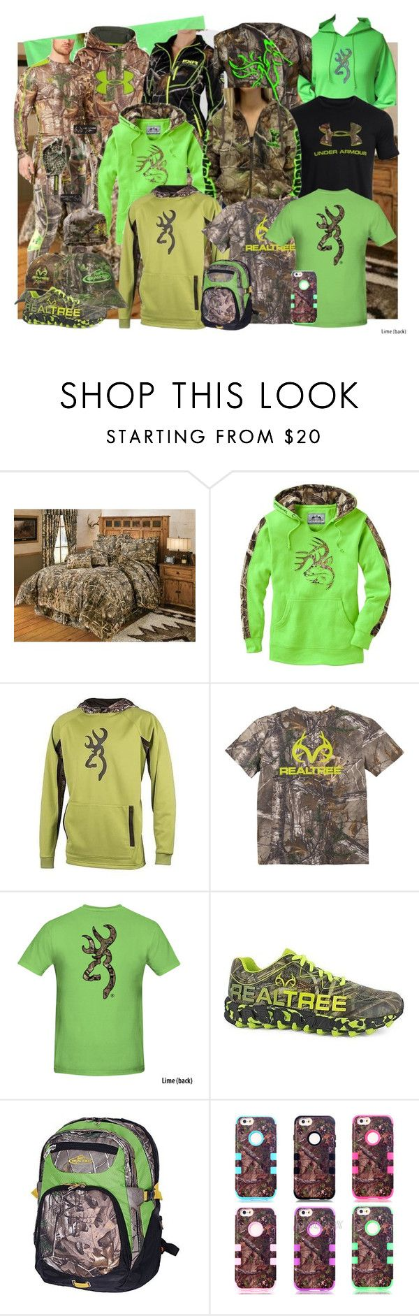 """Lime Realtree"" by muddyramcowgirl ❤ liked on Polyvore featuring Realtree and Under Armour"
