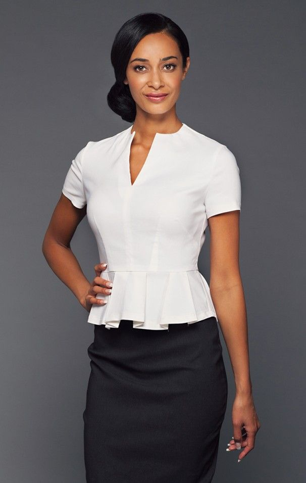 Ava peplum tunic chi couture uniforms fashion hotel for Spa uniform fashion