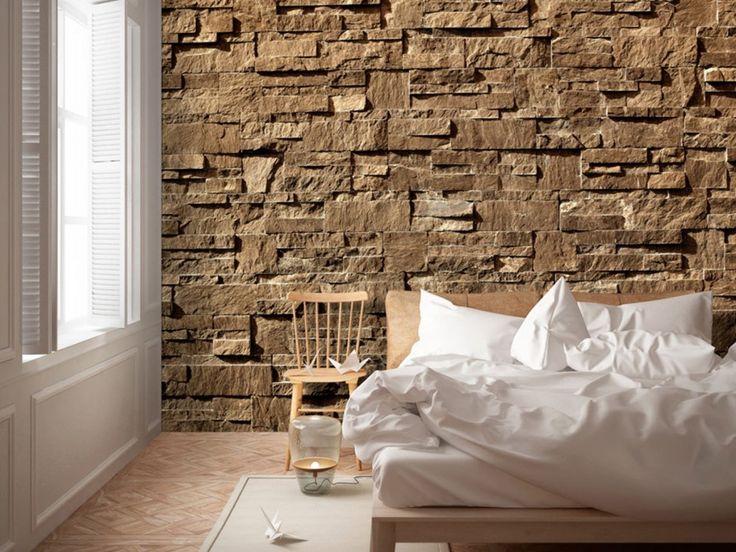 Vous n'aimez pas trop les décorations raffinées ? Misez sur la pierre universelle sur papier peint #papierspeints #papierpeints #décorationmurale #pierre #fond #texture #bimago