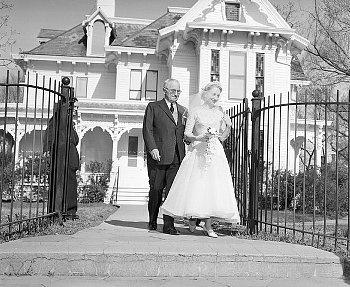 1956 Harry Truman & Daughter  Truman Home  Independence,MO