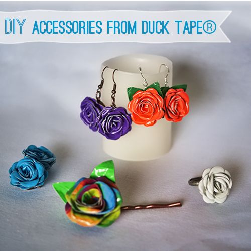 Make Duck Tape Crafts #StuckAtProm #DIY @theduckbrand @savedbyloves http://savedbylovecreations.com/2013/04/diy-prom-accessories-from-duck-tape.html