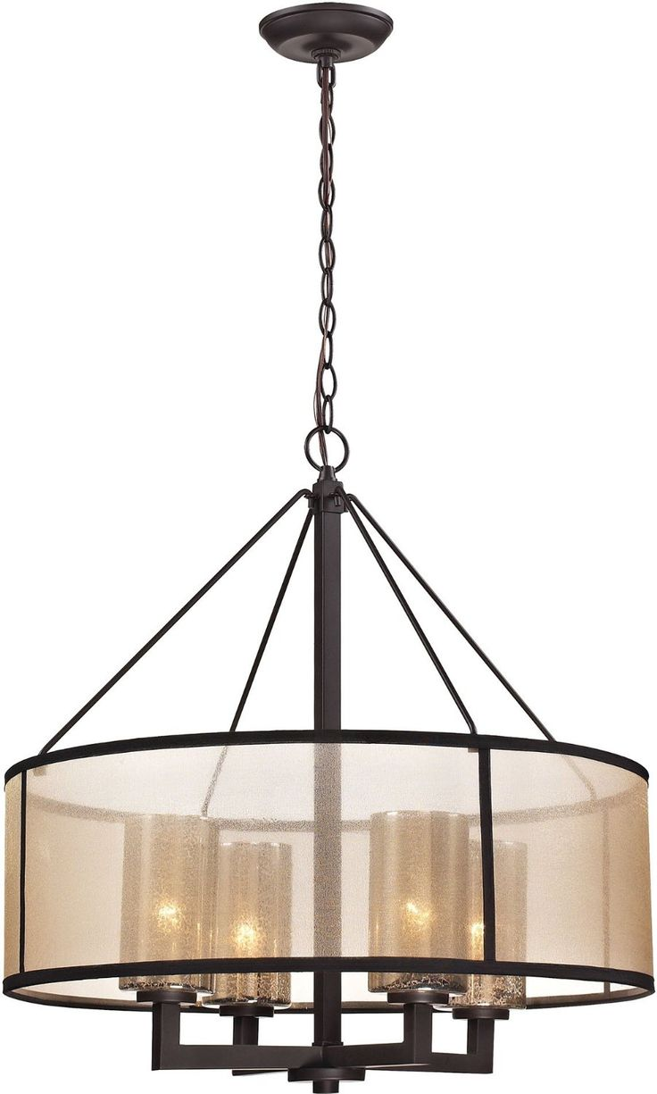 Modern Glass Chandelier > $422.00 Drum Shade, Four Lights - http://chandeliertop.com/modern-glass-chandelier-422-00-drum-shade-four-lights/