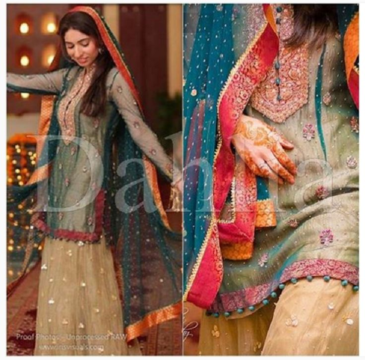 White Mehndi Outfits : Best latest mehndi dresses lehengas images on pinterest