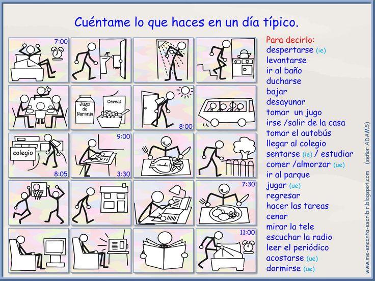 Me encanta escribir en español: la hora