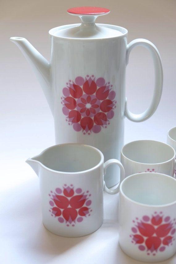 Thomas Rosenthal coffee tea set 'pinwheel' atomic by ChomleyStreet