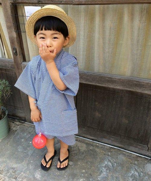 coen KIDS / 【coen kids】ギンガムチェック甚平(着物/浴衣) - ZOZOTOWN