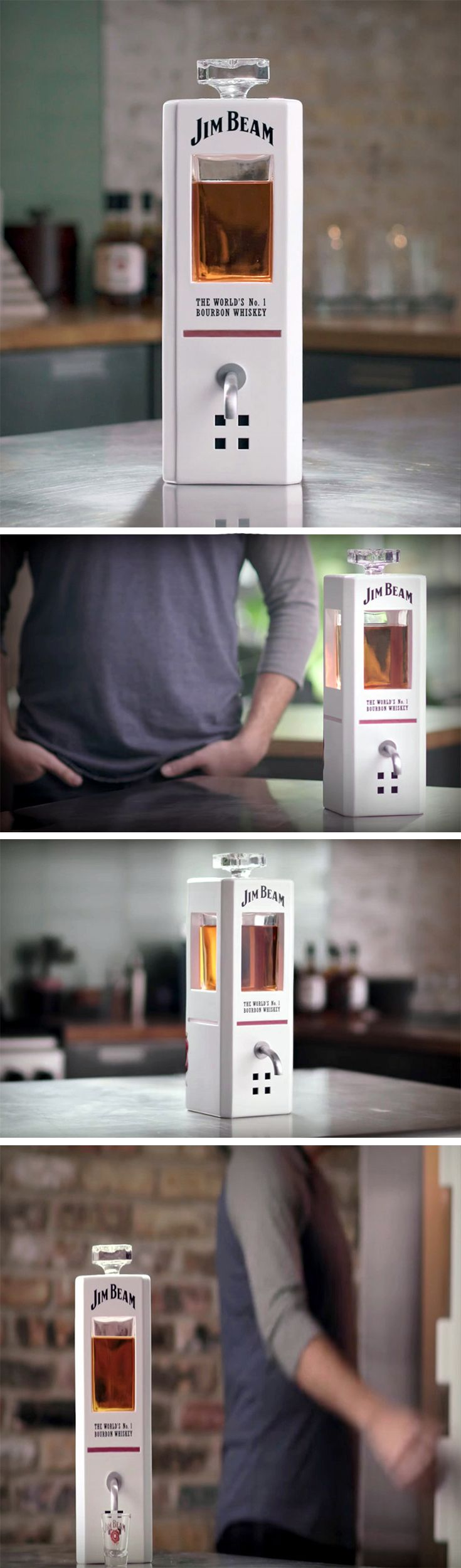 With the world going Amazon Alexa crazy, Jim Beam is bringing out their own smart device – JIM, the smart decanter. That's right, a smart whiskey decanter. It is to be believed the decanter has built-in voice control system which allows the user to command the device to pour a shot of whiskey from across the room. The recordings aren't a generic voice; they are of Fred Noe, a master distiller at Jim Beam.