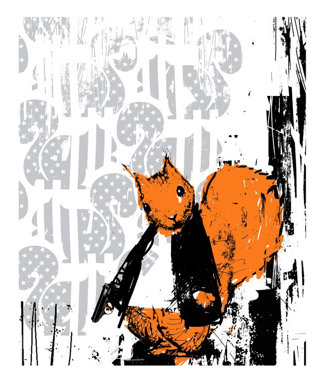"Harry Bunce; Screenprint 2014  ""Another Grey Day"" Limited edition screen print."