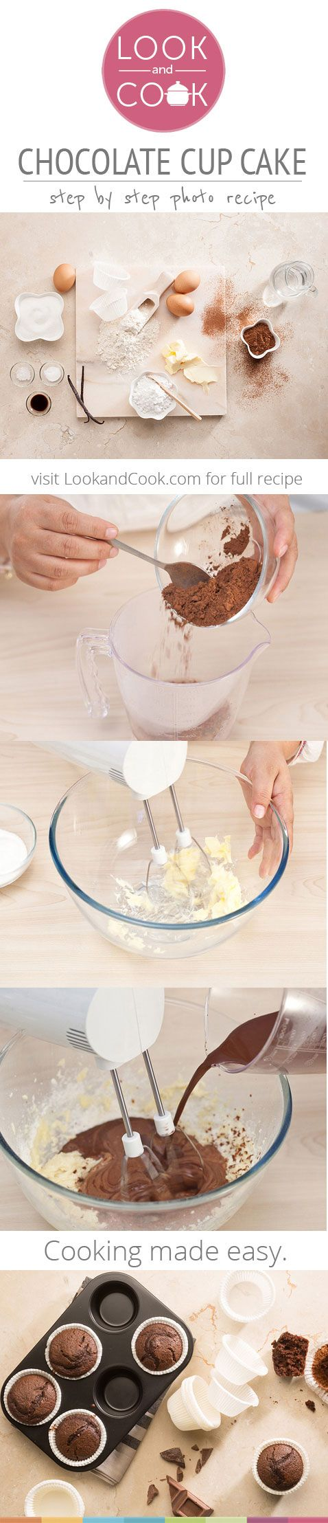 CHOCOLATE CUP CAKE RECIPE Chocolate cup cake (#LC14069): Chocolate cupcakes are the perfect cupcakes which are especially delicious, soft and moist and fresh cake from the oven which are absolutely heavenly.