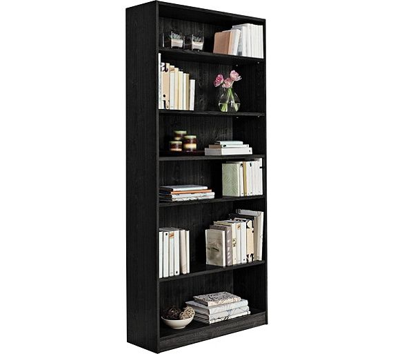 Buy HOME Maine Tall and Wide Extra Deep Bookcase - Black Ash at Argos.co