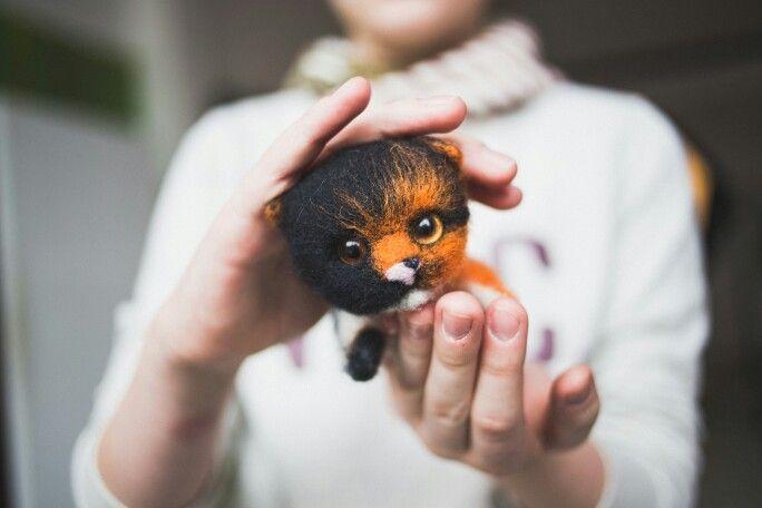 Felt kitten