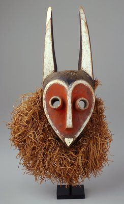 Africa | Mbambi Mask. DR Congo.  c. 1900 AD | In the Minneapolis Institute of Arts collection
