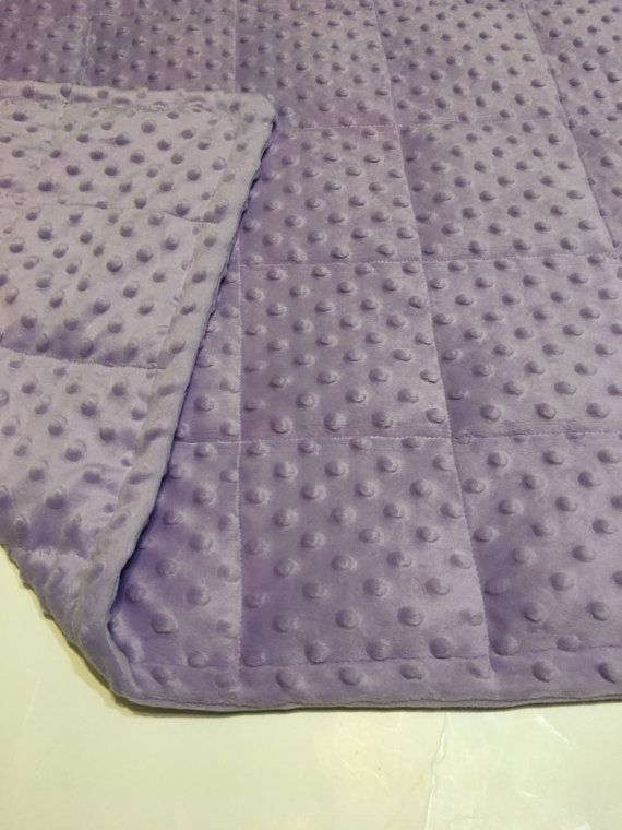Lavender Minky Weighted Blanket Machine Wash Cold Dry Cool Plastic