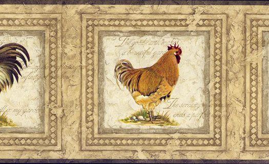 framed rooster wallpaper border - photo #2