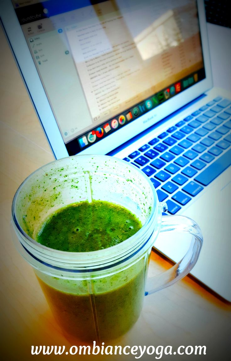 Keeping me energized today - banana, kale, moringa, vanilla protein, vanilla coconut yogurt, and honey. What's fueling you?