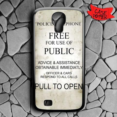 Quotes Box Tardis Doctor Who Samsung Galaxy S4 Black Case