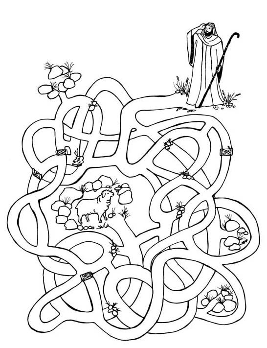 Good Shepherd Maze Coloring Pages