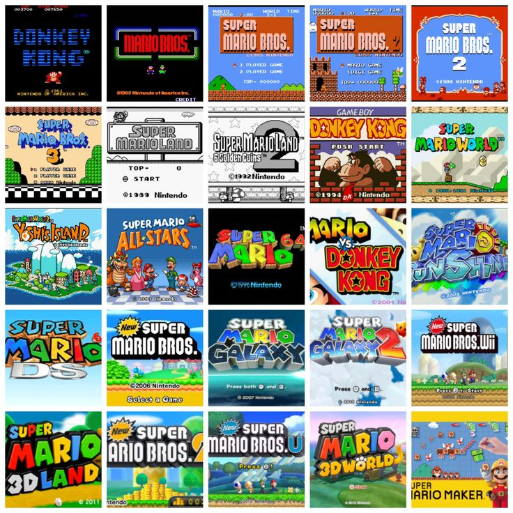 The History of Super Mario Platformers(each game is being showcased with a…