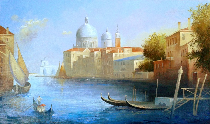 """""""Summer day in Venice""""  Size 40x60  $199  #painting #art # design #venice #picture #water #summer #gondola #olio #nature"""