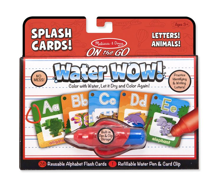 Water Wow! Alphabet Cards For On the Go Travel | Melissa & Doug