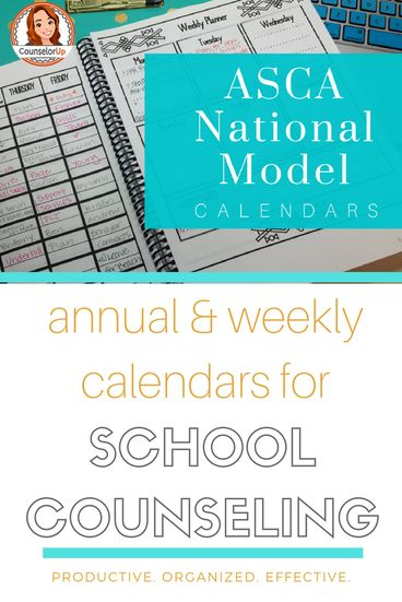 The counselor's time is always in demand but there are so many hours in the day. How can you cope with all the demands without sacrificing your program (or your sanity)? I've already shared how to use your calendar as a productivity tool. Today, we are going to look into the annual and weekly calendar components of the ASCA National Model. Check out my video tutorial.