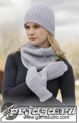 Шапка, снуд и рукавицы – женский комплект спицами