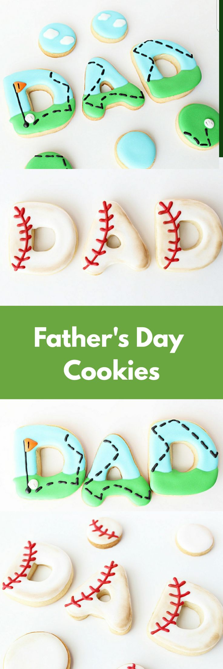Dad Cookies, Sports Cookies, Sports Party Theme, Sports Favors, Fathers Day Cookies, Baseball Cookies, Baseball Party, Golf Themed Party #affiliate