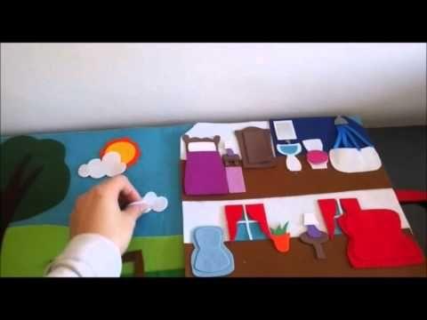 17 mejores ideas sobre libro sensorial en pinterest - Casas de fieltro ...