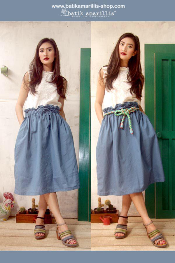 Batik Amarillis's Paperbag skirt