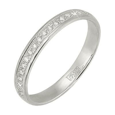 Кольцо из белого золота, артикул К0151010032 - купить по лучшей цене, описание, характеристики, фотографии