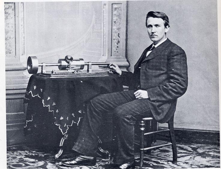 Thomas Edison photographed at The White House by Mathew B. Brady