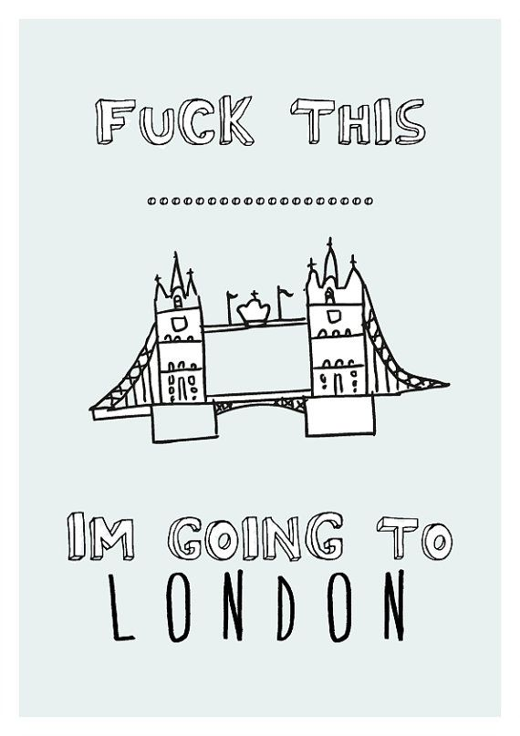 LONDON  Graphic Design Print by sinansaydik on Etsy,