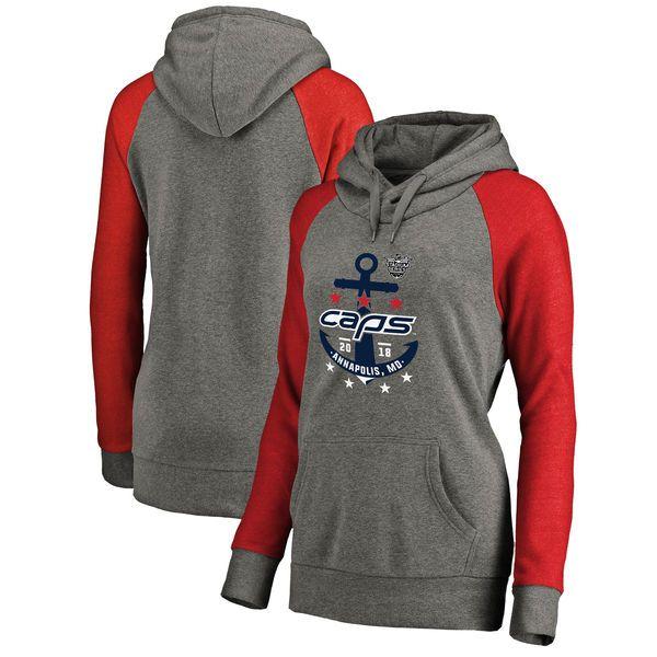 Washington Capitals Fanatics Branded Women s 2018 NHL Stadium Series  Tri-Blend Raglan Pullover Hoodie – 3f91a135a