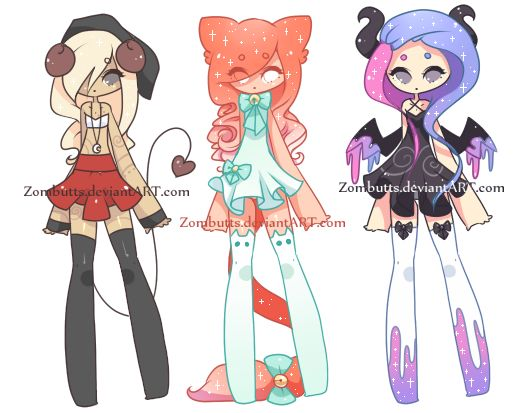 Thigh High Adoptables Batch 7: CLOSED by Zombutts on DeviantArt