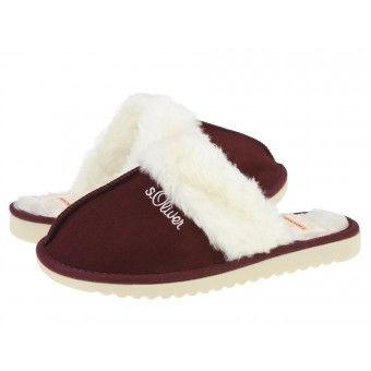 Papuci casa dama s.Oliver bordeaux #homeshoes #cozy #Shoes