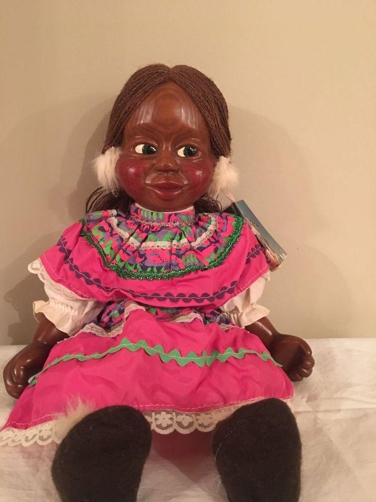 Vintage 1987 Naber Kids Wooden Doll Maxine # 362 Original Signed Alaska Eskimo