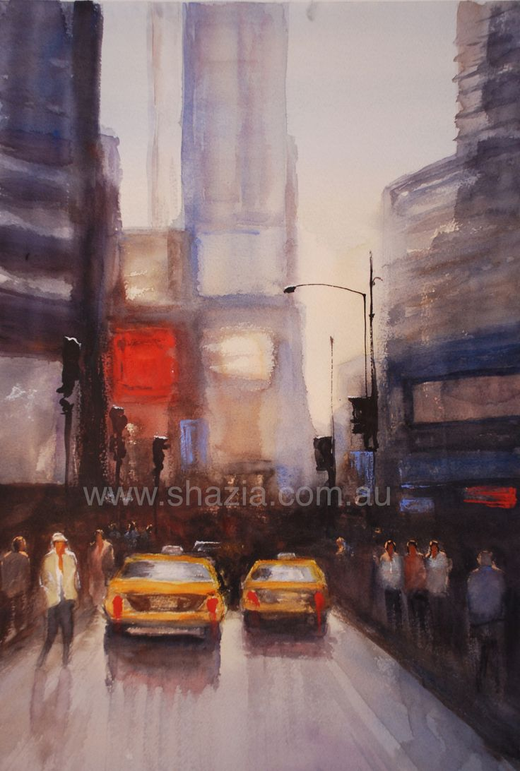 One of my favourite places... New York, watercolour, www.shazia.com.au