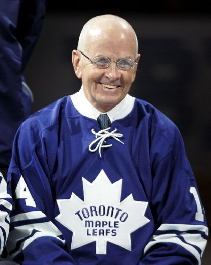 The Greatest Toronto Maple Leaf and Captain of all time, #14, Dave Keon. Awards include 4 Stanley Cups, the Calder Memorial Trophy, Lady Byng Memorial, and Conn Smythe Trophies. Keon was also an 8-Time All-Star inducted into the Hockey Hall of Fame in 1986.