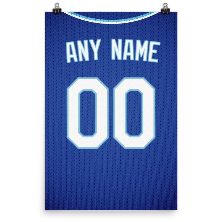 Kansas City Royals Jersey Poster – Print Personalized Select ANY Name & ANY Number