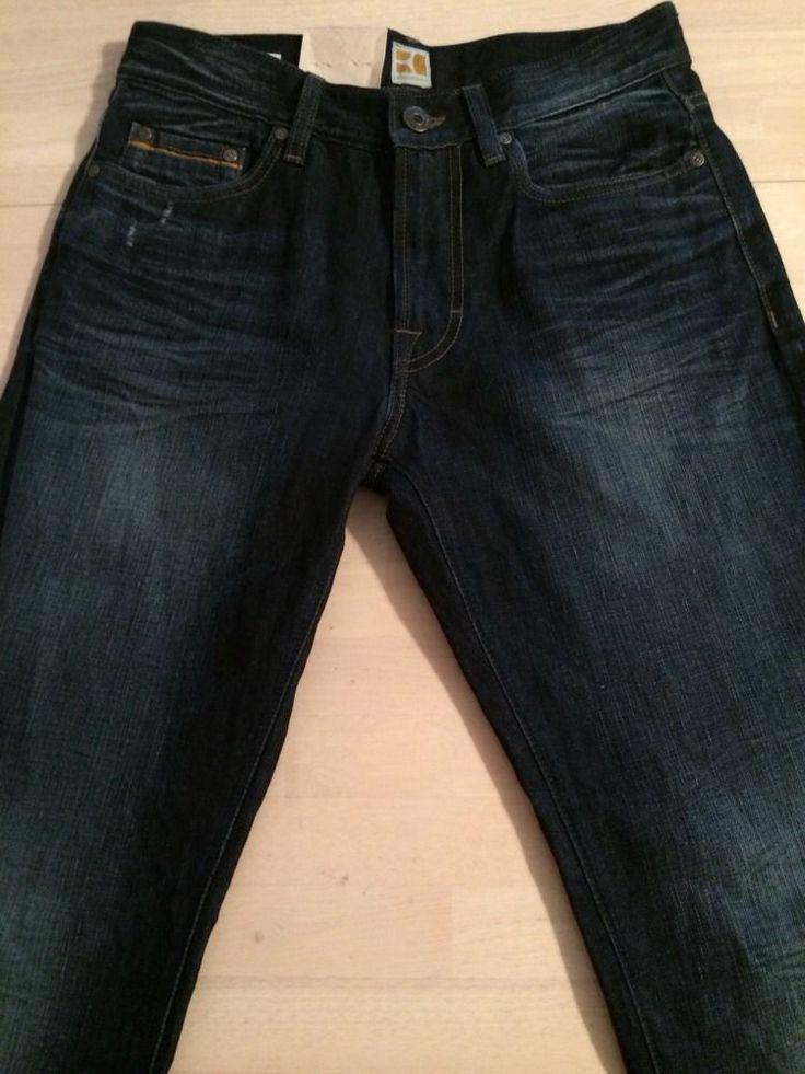 Hugo Boss Orange 25 Zip Regular Fit Dark Distressed Men's Jeans Sz 30 X 34  New