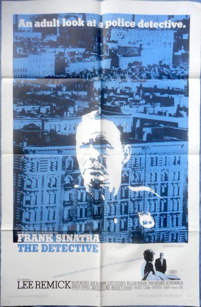 THE DETECTIVE MOVIE POSTER Frank Sinatra Lee Remick Crime Drama 1-sht 1968